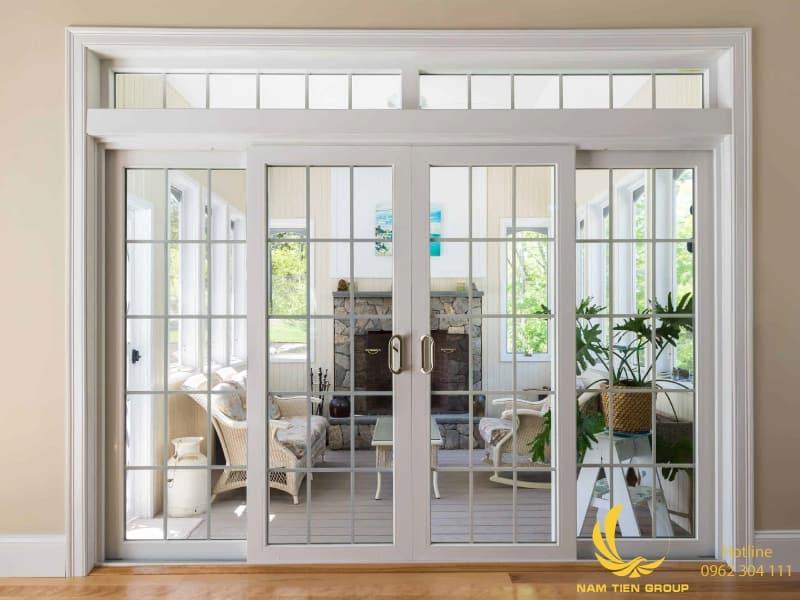 Nam Tiến Window nhận lắp đặt cửa nhôm xingfa phòng khách theo phong cách Châu Âu.